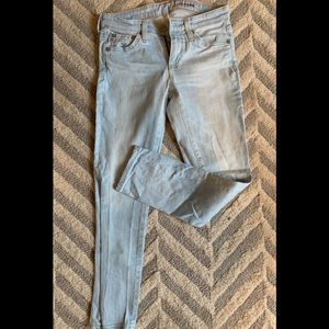 AG The Stilt Crop Cigarette Denim Size 24